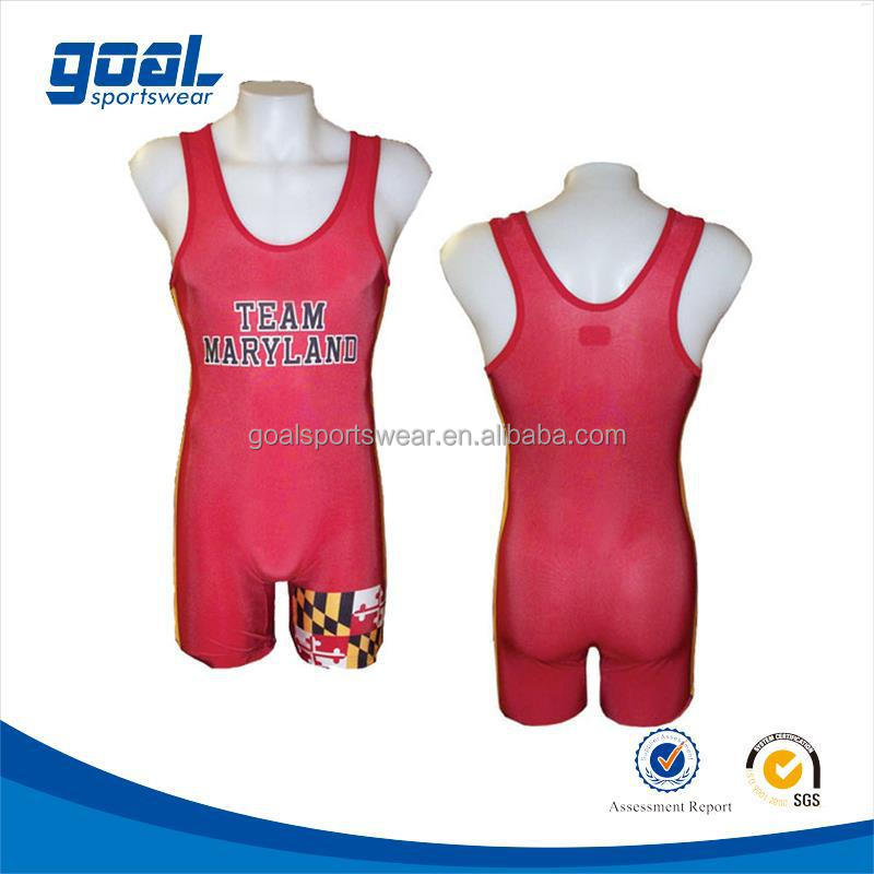 High quality make your own top level women's wrestling singlet's