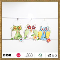 handicraft making spring garden colorful owl hanging decor