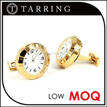 Black plating watch movement cufflink with Japanese movement