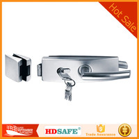high quality good price stainless steel glass door lock for wholesale