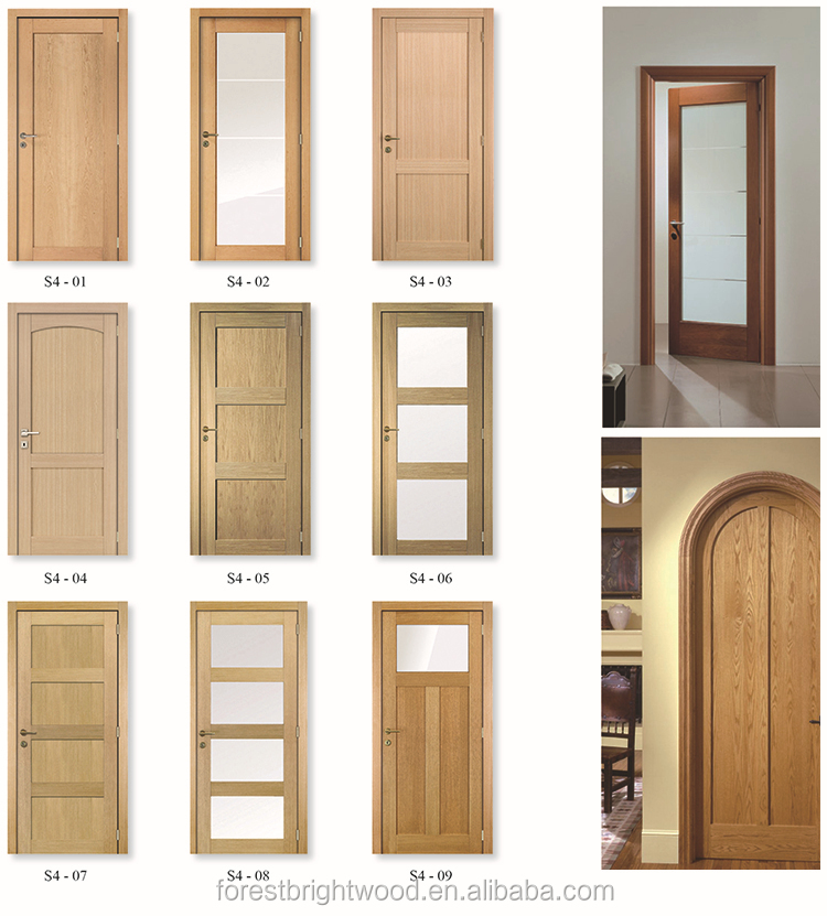 Oak flat 3 panel shaker craftsman swing interior closet door view closet door forest bright - Swinging double doors interior ...