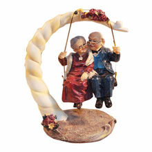 Elderly Couple Figurines Loving Old Age Life for Home Decorations