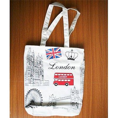White london Bus Big Ben Women Girls Tote Bag Shoulder Bag Canvas Whole Tote Bag