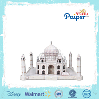 Taj mahal 3d paper puzzle india famous buildings