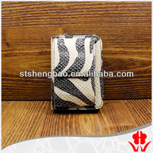 zebra pattern smart phone and card holder wallet in alibaba china phone purse with chain