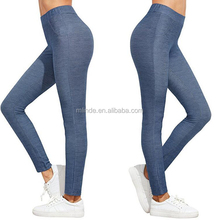 Sexy Tights Blue High Waist Yoga Workout Leggings Stretch Tights Pictures Of Women In Transparent For Girls