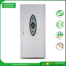 Modern Decorative Oval Glass Steel Door High Quality Security Steel Glass Door With SONCAP