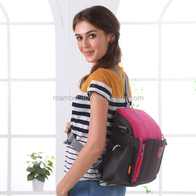 2015 hot sale candy color baby daiper bag fashion mummy bag