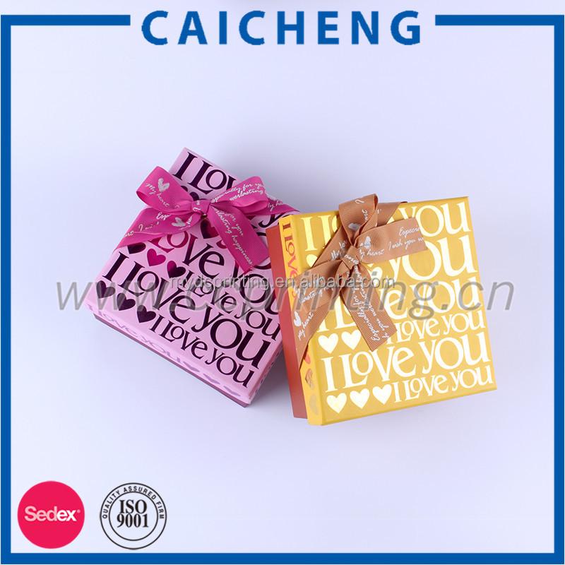 Ribbon Wedding Invitation Gift Box
