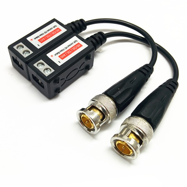 Split Jointed High Definition twisted-pair 1 channel passive HD CVI TVI ahd video balun