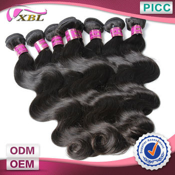 XBL Human Hair 100% Unprocessed Raw Hair 6A Body Wave Direct Factory Price Mongolian Virgin Wavy Hair