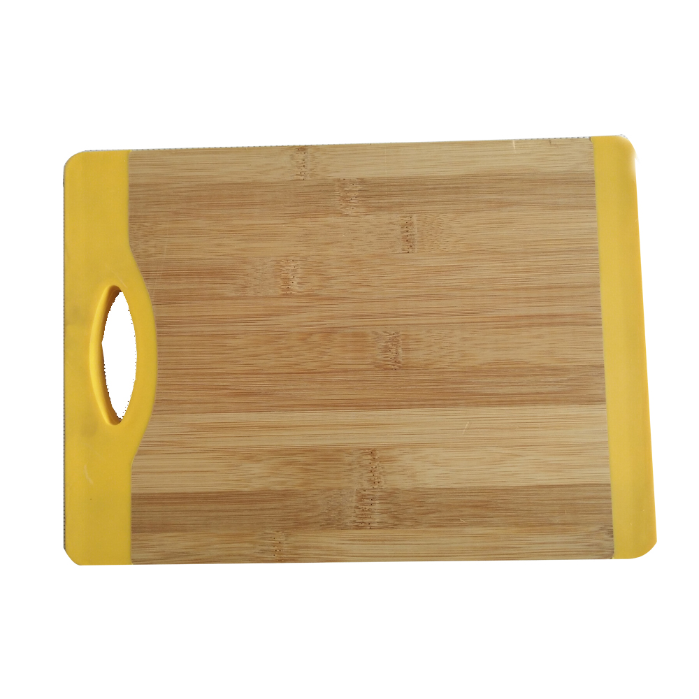 Carbonized bamboo cutting board with silicone