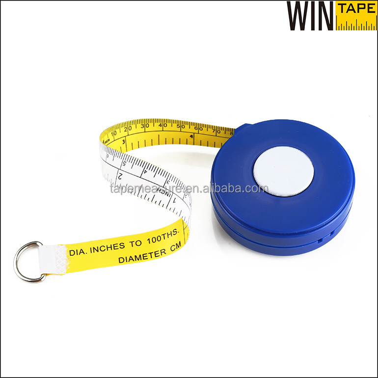 Wholesale PVC Plastic Construction Tools Auto Retractable Branded Logo 2 meters Tree Diameter pi Measuring Tape