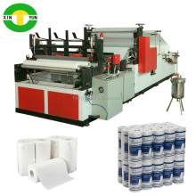 Paper roll production equipment of rewinder kitchen towel roll tissue machine