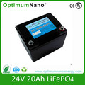 24V 20Ah lifepo4 battery used for golf car