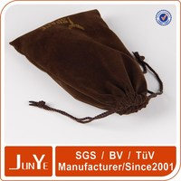 custom velvet drawstring camera lens pouch packaging bag