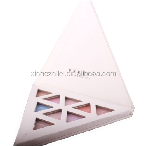 private label eyeshadow palette/paper cardboard makeup palette/empty makeup palette containers/