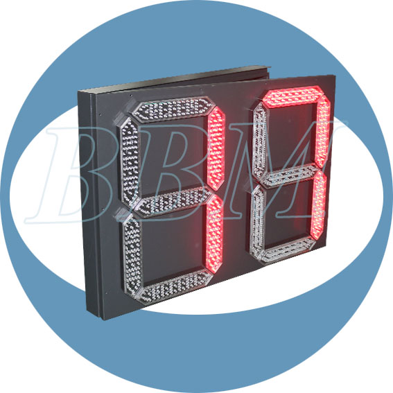 Traffic warning red LED digital countdown timer