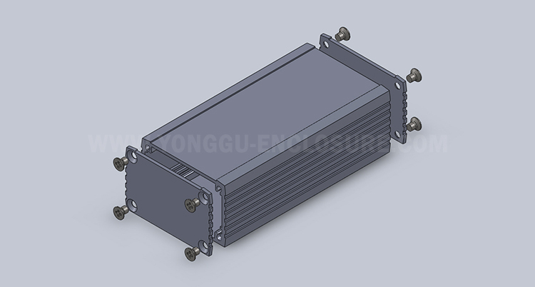 Aluminum Extrusion Box For Electronic Aluminum Project Box Enclosure Case