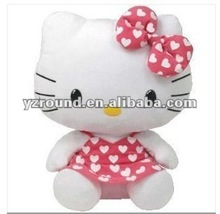 "Plush toy Hello Kitty - Pink Dress with White Hearts 6"" Soft Beanie Toy"