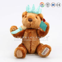 organic cotton teddy bear with movable arms and legs