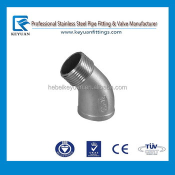 "3/4"" street elbow 45 degree angled male female npt taper thread"