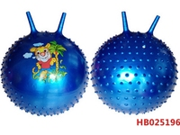38Cm 380G Inflatable Ball, Wholesale Ecofriendly Pvc Toy Jumping Pop Massage Ball With Handle