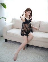 China transparent gauze lace sexy body hugging plus size lingerie