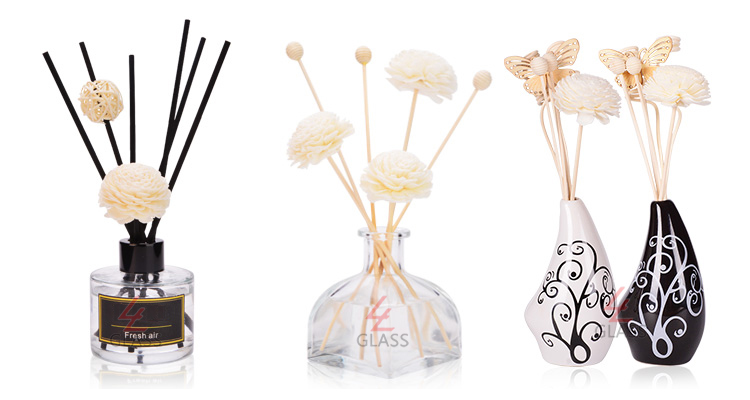 shanghai linlang clear empty aroma reed diffuser custom glass bottle