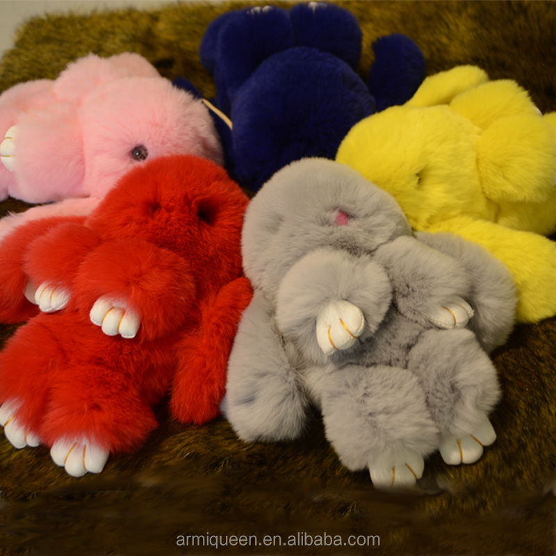 Colorful Rex Rabbit Fur Ball Key Chain/ <strong>Phone</strong> Chain Pendant/Cute rabbit fur bag ring