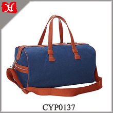 Fashion Waxed Canvas Travel Luggage Bag Custom Waterproof Canvas Duffel Bag