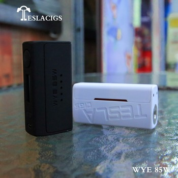 New products of Tesla WYE 85w vape mods with excellent performance and cheap price coming