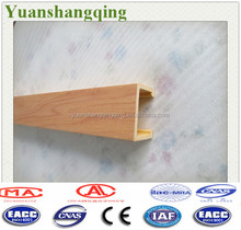 Attractive durable wood plastic composite grid ceiling