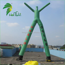 Promotional Advertising Inflatable Air Dancer / 6mH Inflatable Green Wavy Man For Sale