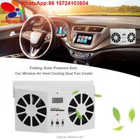 New car solar fan Portable Solar Sun Power 2W Car Auto Air Vent Cool Fan Cooler Ventilation System Radiato with Display