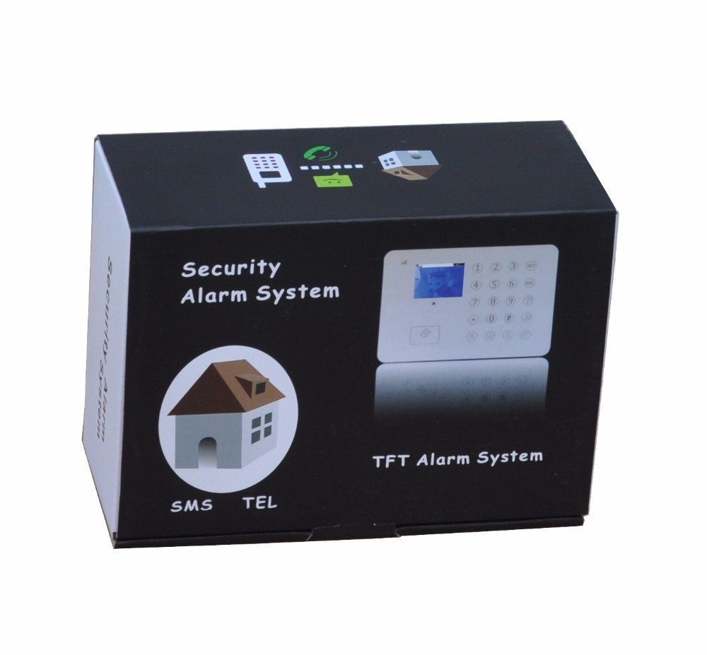 GSM smart security system TFT RFID personal home burglar alarm system
