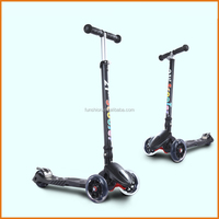Hot sale multifunction three wheels kick scooter with led wheel