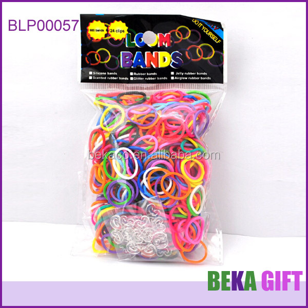 wholesale rubber band bracelets cheap elastic loom rainbow bandz crazy monster loom bracelet loom band charms