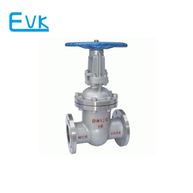 Cast steel DN150 flanged end wedge gate valve for PN16