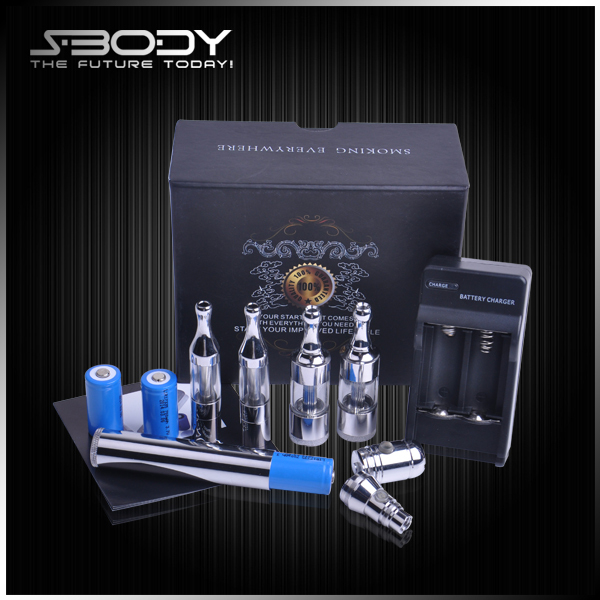 Hot selling electronic cigarette starter kit adjustable voltage battery vv. no1 e cig vapor both ego / 510 battery