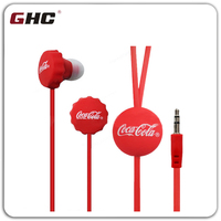 Cheap and fasion bear cap earphone with logo for free