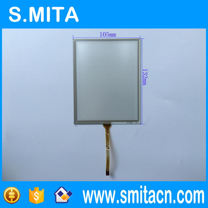 5.7'' inch resistive touch screen digitizer ST-057001 132*105mm Narrow mouth 4 wire resistive , transparent glass touch screen