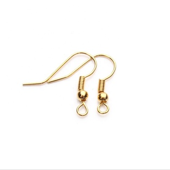 Factory direct \ % sale OEM/ODM stainless steel gold plated earring 훅 (hook) diy