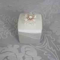 wholesale ceramic jewelry box glass trinket boxes for ring gift