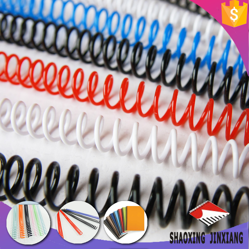 high quality school supplies binder clip , spiral ring binder , plastic book spiral binding coil wire