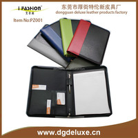 A4 pvc leather folder with zipper