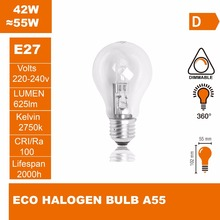 Halogen light Bulbs A55 220-240V 42W E27 Replace Incandescent Bulbs