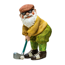 Wholesale Miniature Dwarf Garden Decoration Golf Gnome Statues