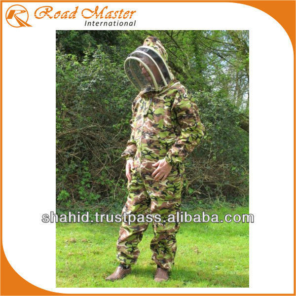 Camouflage Beekeeping Coverall Safety Suit