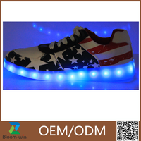 Customized design cool colorful Led sport shoes light up shoes for ladies